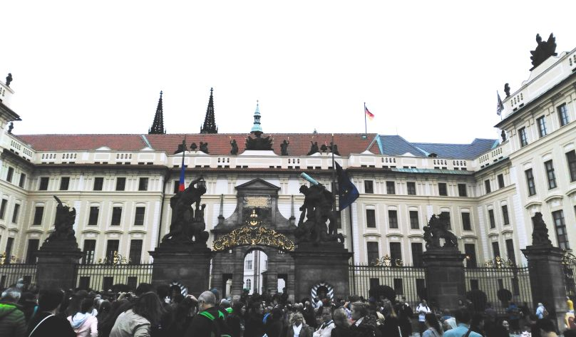 Changing of the guard at Prague Castle