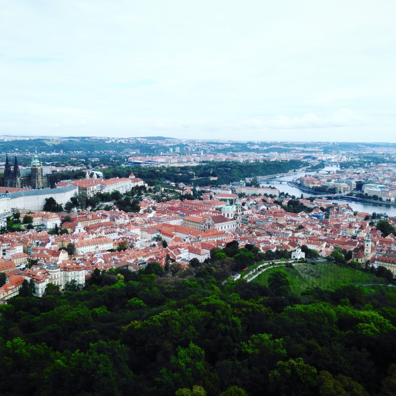 View of Prague from Petřín Tower