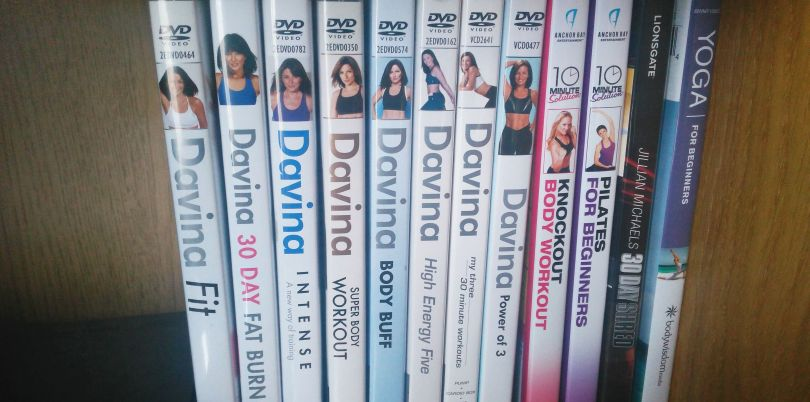 My exercise DVDs