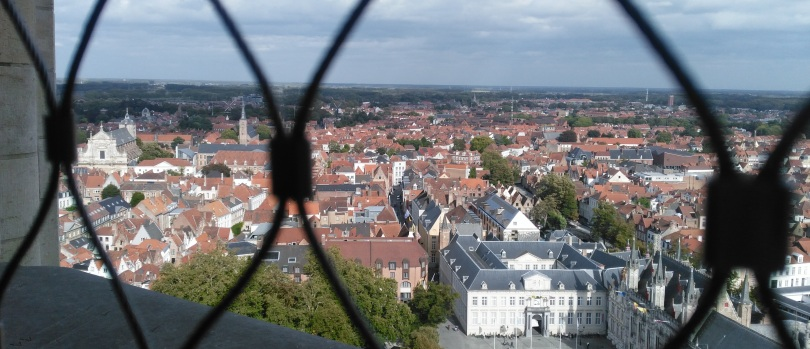 View from the top of the Belfort in Bruges