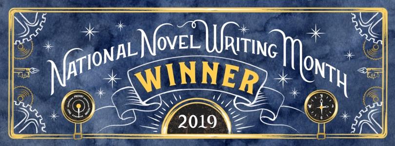 National Novel Writing Month Winner 2019.