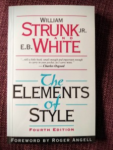 The Elements of Style by William Strunk and E B White.